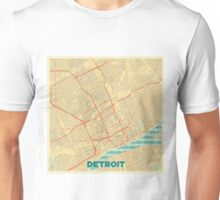 Detroit Map Retro Unisex T-Shirt