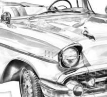 1957 Chevrolet Bel Air Convertible Illustration Sticker