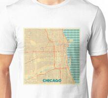 Chicago Map Retro Unisex T-Shirt
