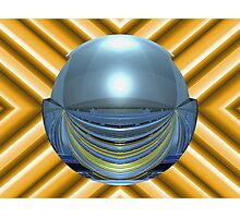 Spherically Mirrored Sunlit Stadium  Photographic Print