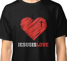 Jesus is Love - Heart - Christian T Shirt Classic T-Shirt