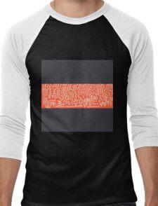 Clean Stripe (Luxury) Men's Baseball ¾ T-Shirt