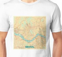 Seoul Map Retro Unisex T-Shirt