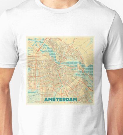 Amsterdam Map Retro Unisex T-Shirt