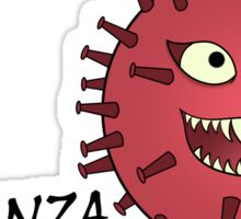 Influenza Virus Villain Sticker