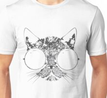 CAT FACE WITH GLASSES Unisex T-Shirt