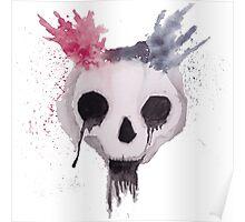 Creepy Watercolor Skull Poster