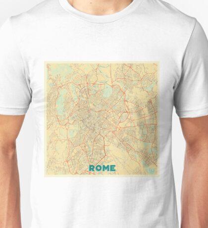 Rome Map Retro Unisex T-Shirt