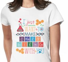 Crazy Science Womens Fitted T-Shirt