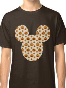 Mickey Halloween Orange Pumpkin Pattern Silhouette Classic T-Shirt