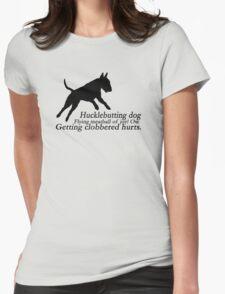 Bull Terrier Haiku Womens Fitted T-Shirt