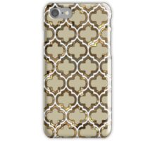 Gold Lattice Effect Decorative Design iPhone Case/Skin