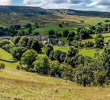 Burnsall Village Yorkshire Dales by Mike Cave