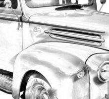 1947 Ford Flat Bed Pickup Truck Illustration Sticker