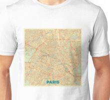 Paris Map Retro Unisex T-Shirt