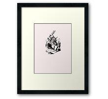 White Rabbit - Alice in Wonderland Framed Print