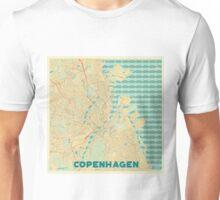 Copenhagen Map Retro Unisex T-Shirt