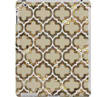 Gold Lattice Effect Decorative Design iPad Case/Skin