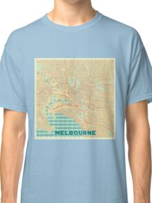 Melbourne Map Retro Classic T-Shirt