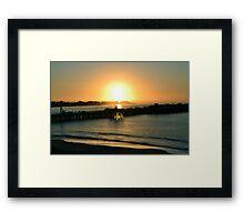 Santa Cruz Sunrise Framed Print