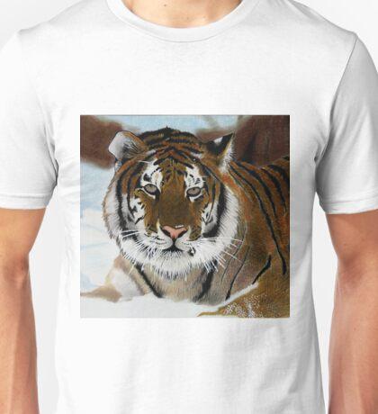 Tiger in Snow Unisex T-Shirt