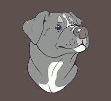 Pit bull Pride-Blue Unisex T-Shirt