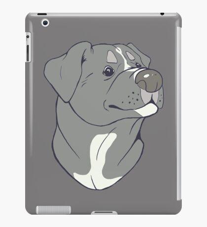 Pit bull Pride-Blue iPad Case/Skin