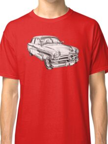1950 Ford Custom Deluxe Classsic Car Illustration Classic T-Shirt