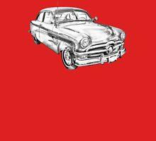 1950 Ford Custom Deluxe Classsic Car Illustration Unisex T-Shirt