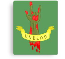 Undead Zombie Design Canvas Print