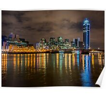 Vauxhall Bridge at Night Poster
