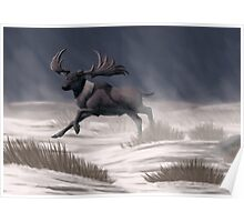 Irish Elk Poster