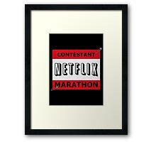 Netflix Marathon Framed Print