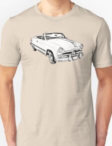 1949 Ford Custom Deluxe Convertible Illustration T-Shirt