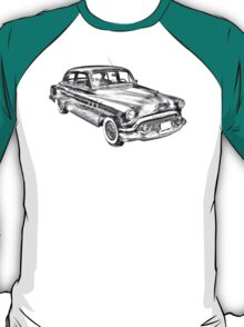 1951 Buick Eight Antique Car Illustration T-Shirt