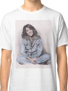 Karen Carpenter Tinted Graphite Drawing Classic T-Shirt