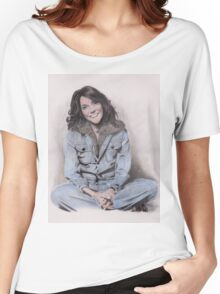 Karen Carpenter Tinted Graphite Drawing Women's Relaxed Fit T-Shirt