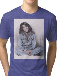 Karen Carpenter Tinted Graphite Drawing Tri-blend T-Shirt