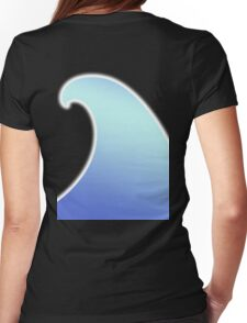 Ocean, Wave, Surf, Surfing, Tsunami, Water Womens Fitted T-Shirt