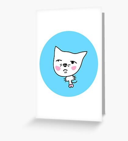 UGLY ASIAN MEOW Greeting Card