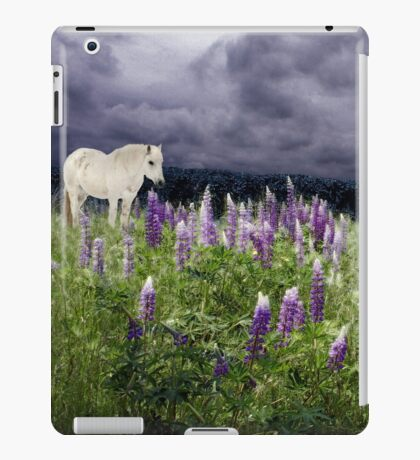 A Childs Dream Among Lupine iPad Case/Skin