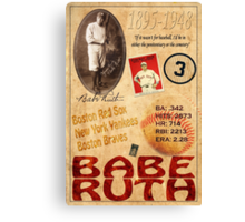 Babe Ruth Canvas Print