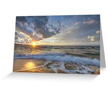 Breathtaking sunset Greeting Card