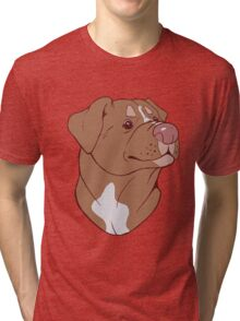 Pit Bull Pride- Red Tri-blend T-Shirt