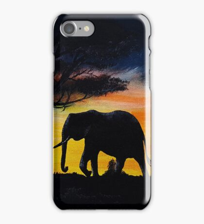 Call of the wild acrylic painting iPhone Case/Skin