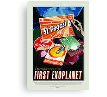 Vintage 51 Pegasi b First Exoplanet Travel Canvas Print