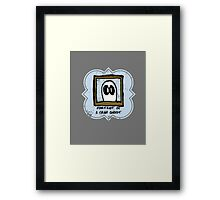 Portrait of a Crap Ghost Framed Print