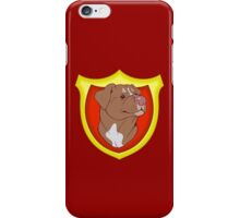 Pit Bull Pride - Red with Crest iPhone Case/Skin
