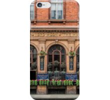 Outside View of an English Pub iPhone Case/Skin