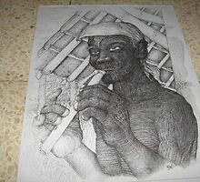 capure of my drawing artworks on paper by bemfi istanto